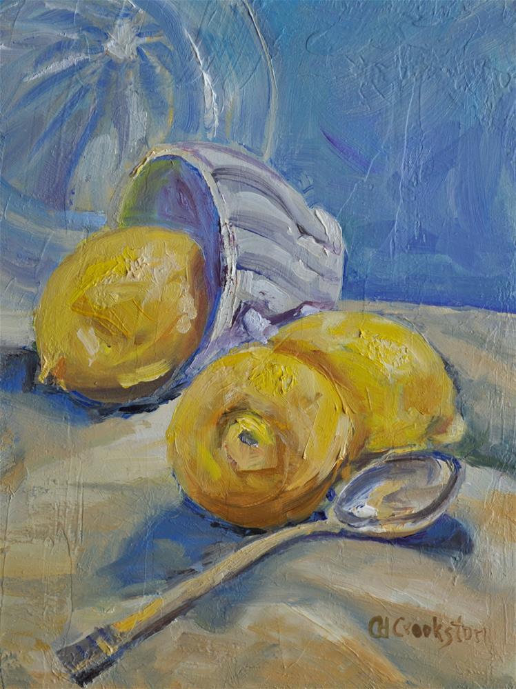 """Lemons"" original fine art by Catherine Crookston"