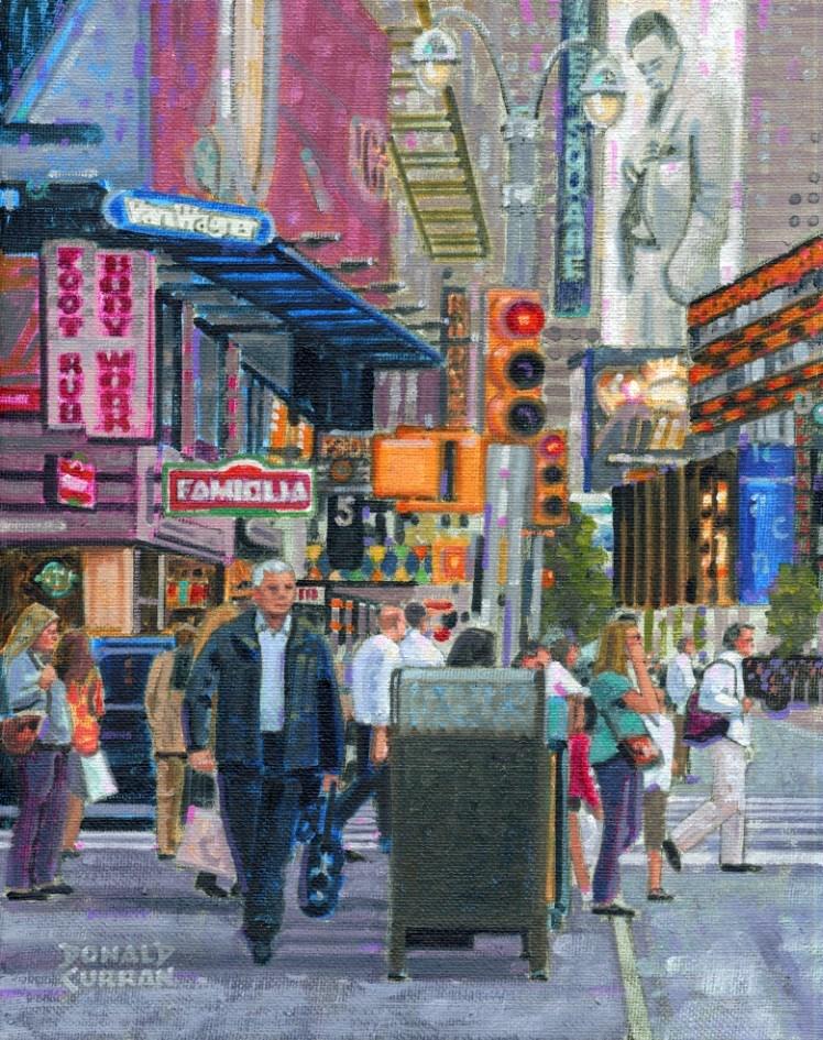 """New York City Street"" original fine art by Donald Curran"