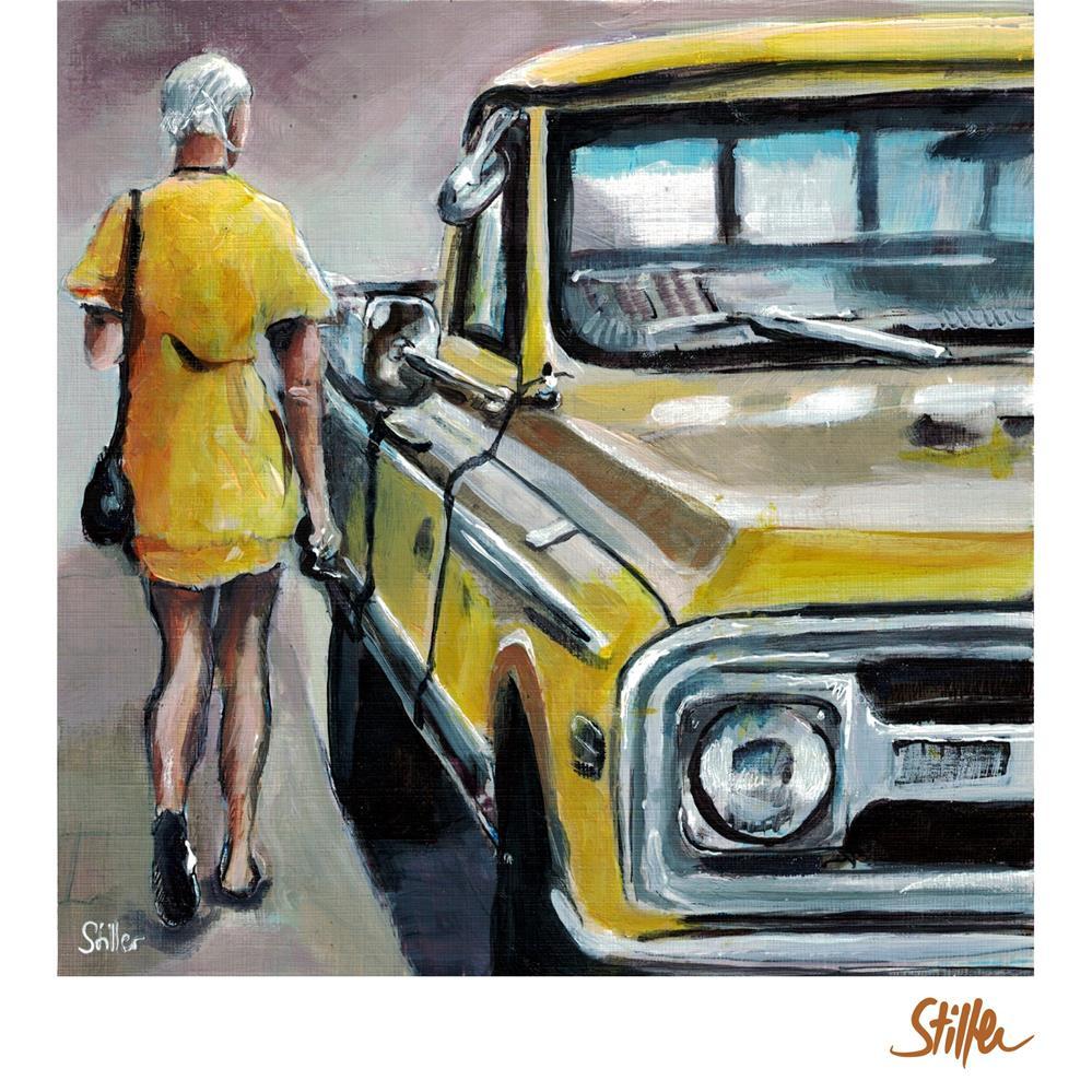 """""""3520 Yellow&Yellow"""" original fine art by Dietmar Stiller"""