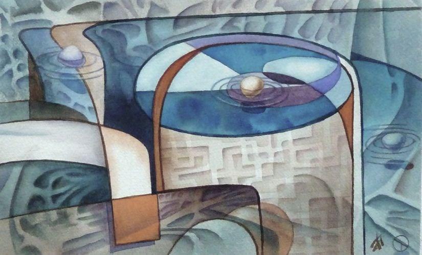 """The Well"" original fine art by Mark Allison"