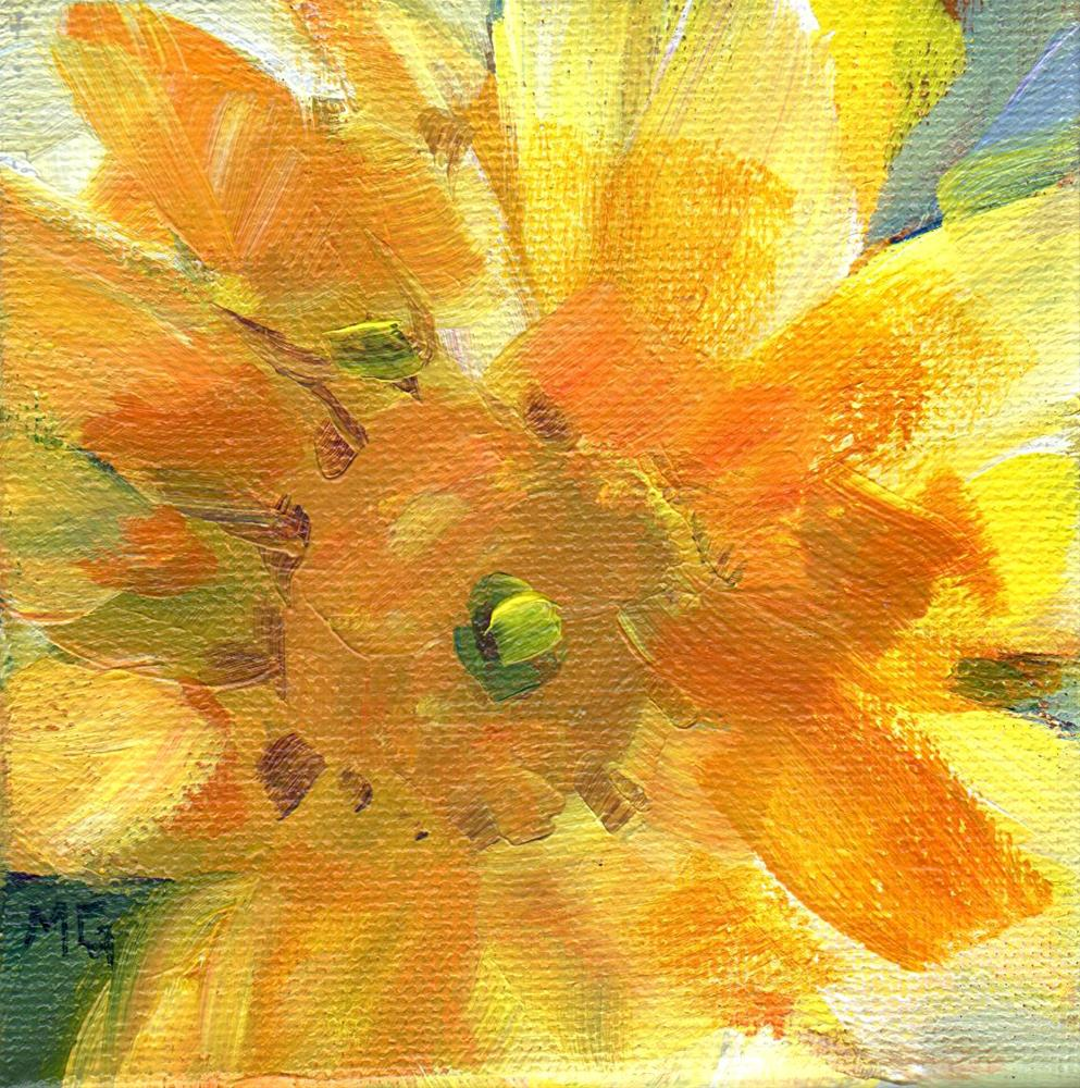 """Sunflower Smile"" original fine art by Melissa Gannon"