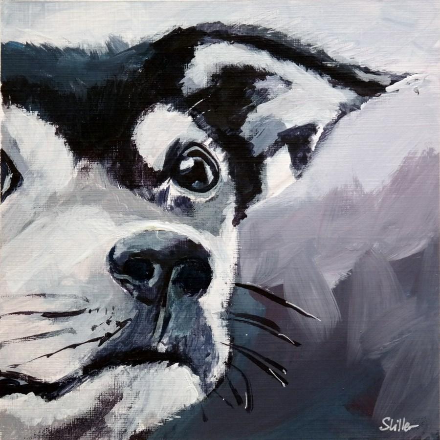 """""""1971 Doggy No. Six"""" original fine art by Dietmar Stiller"""