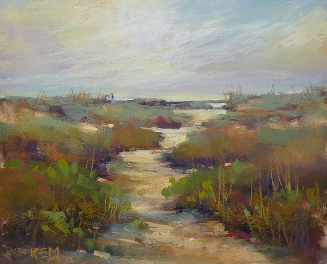 """""""A Tip for Adding a Pathway to a Landscape Painting"""" original fine art by Karen Margulis"""