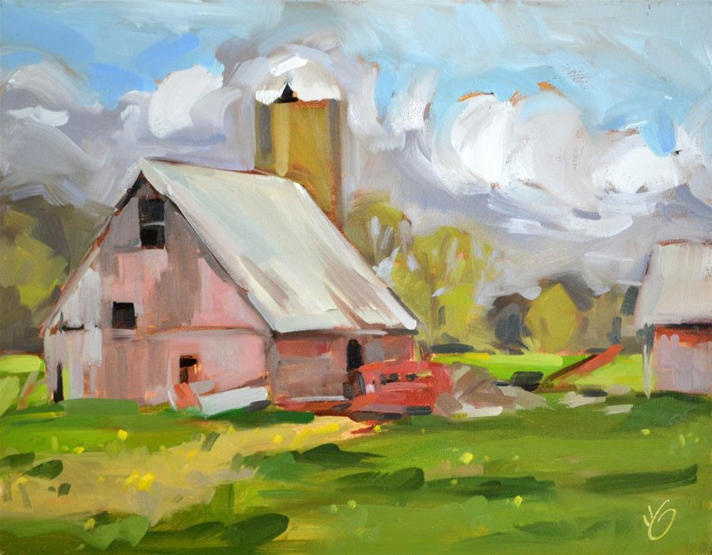 """Faded Barn"" original fine art by Jessica Green"