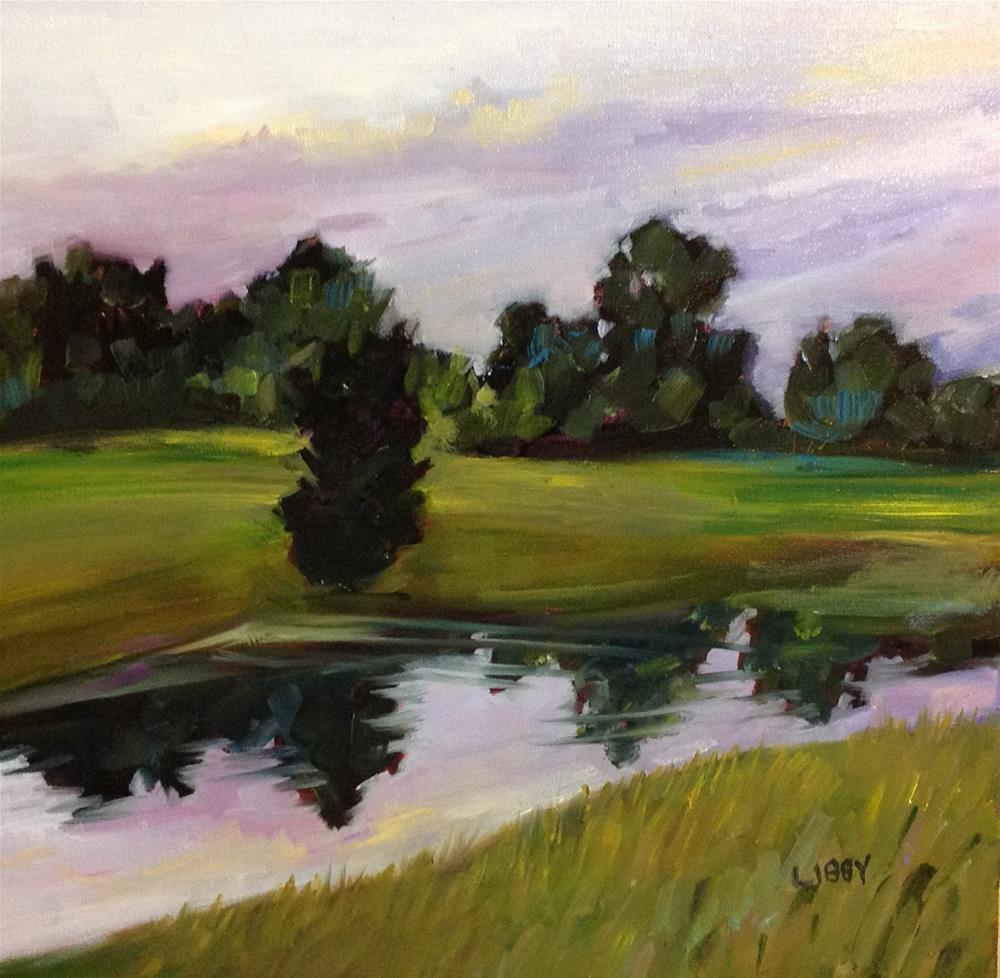 """""""Purple Sky"""" original fine art by Libby Anderson"""