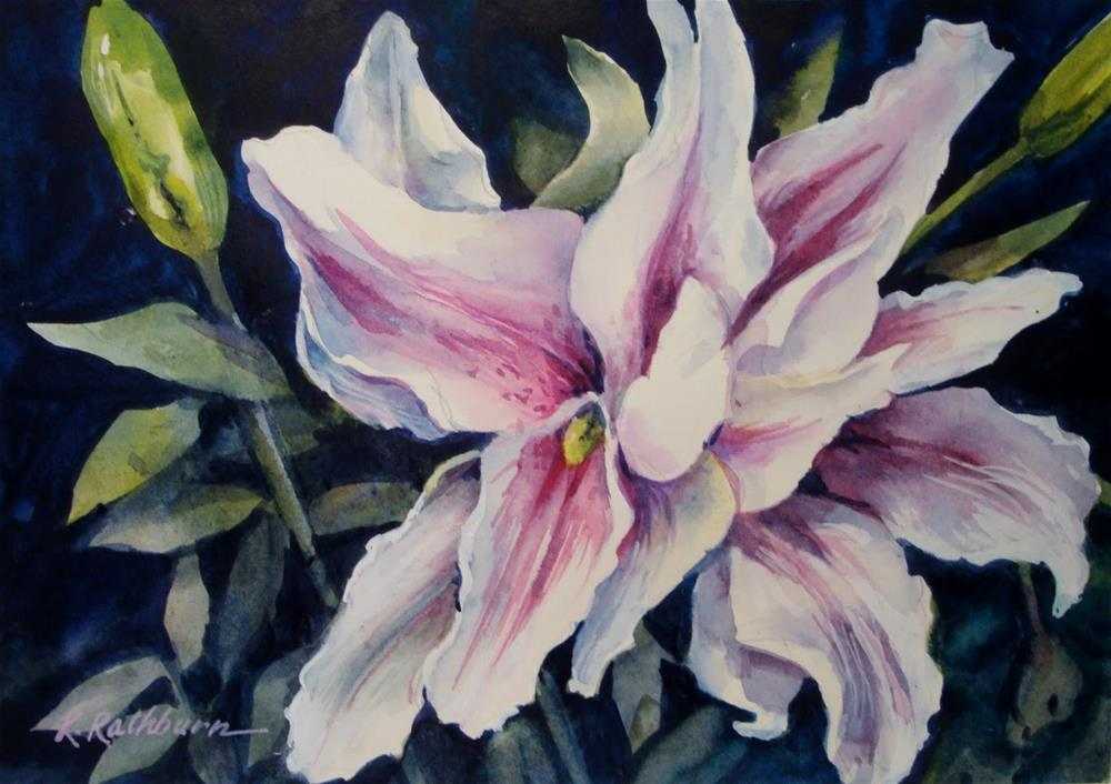 """Pink Double Star Gaizer"" original fine art by Kathy Los-Rathburn"