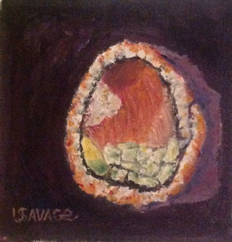 """The Sushi Stands Alone"" original fine art by Judy Usavage"