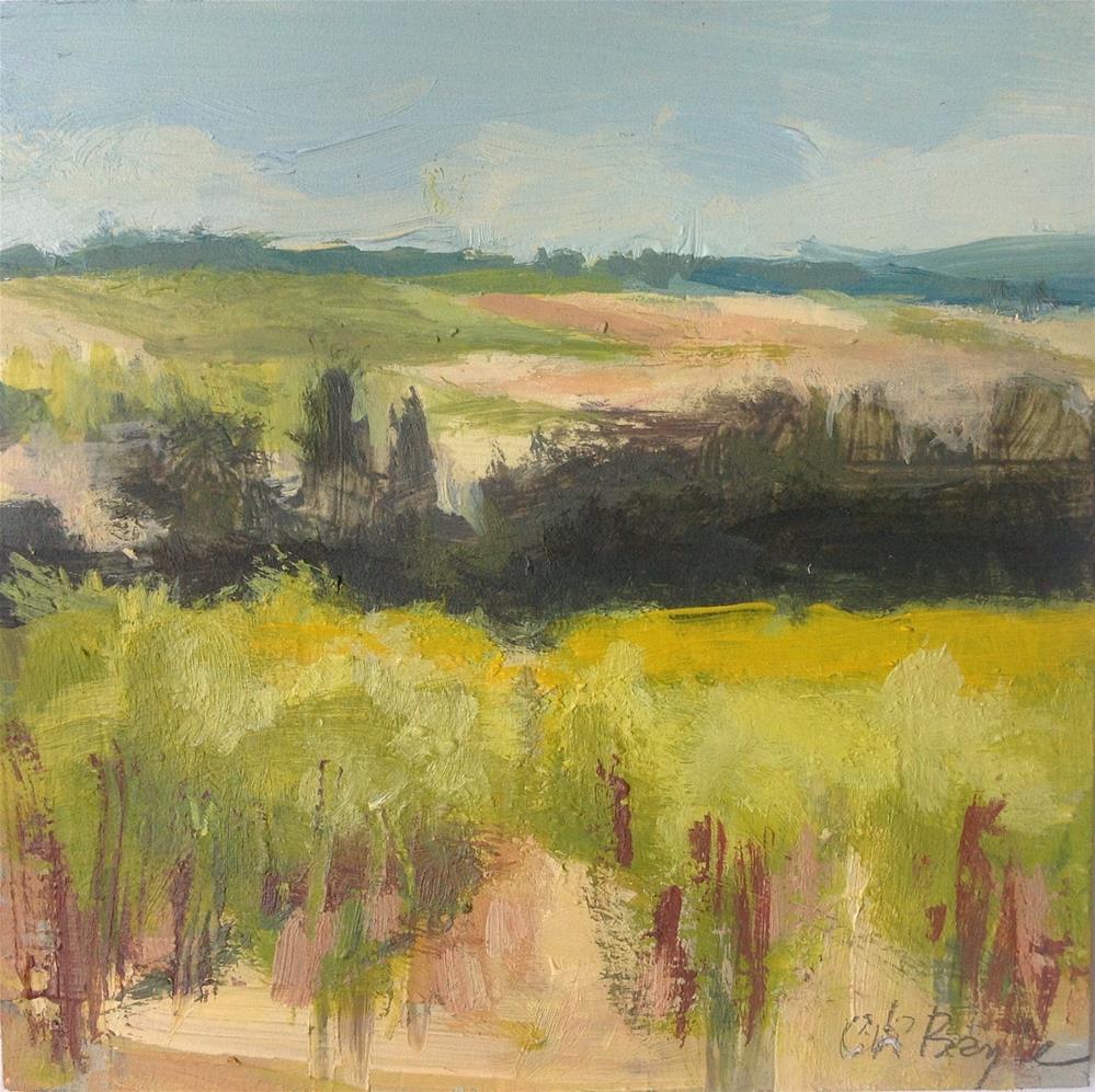 """Vineyard"" original fine art by Christine Bayle"