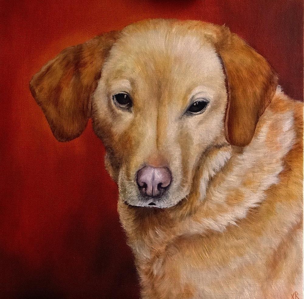 """Duchy, A Labrador"" original fine art by Karen Robinson"