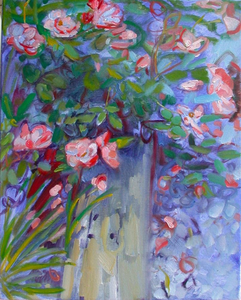 """May Roses"" original fine art by Polly Turner"
