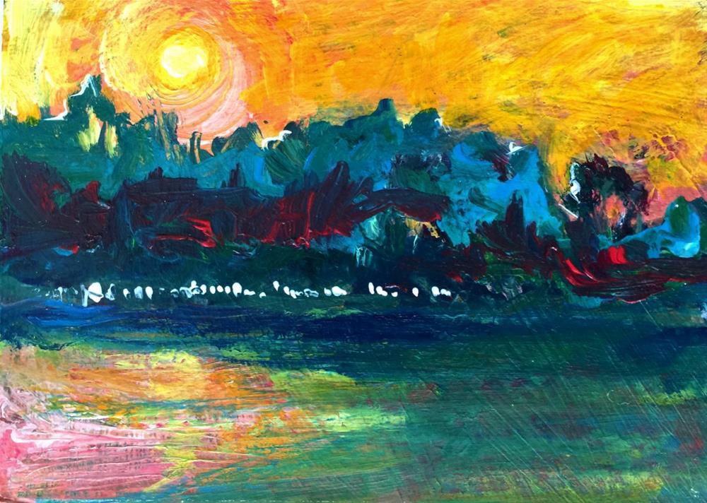 """Last Train To Paris"" original fine art by Leoma Lovegrove"