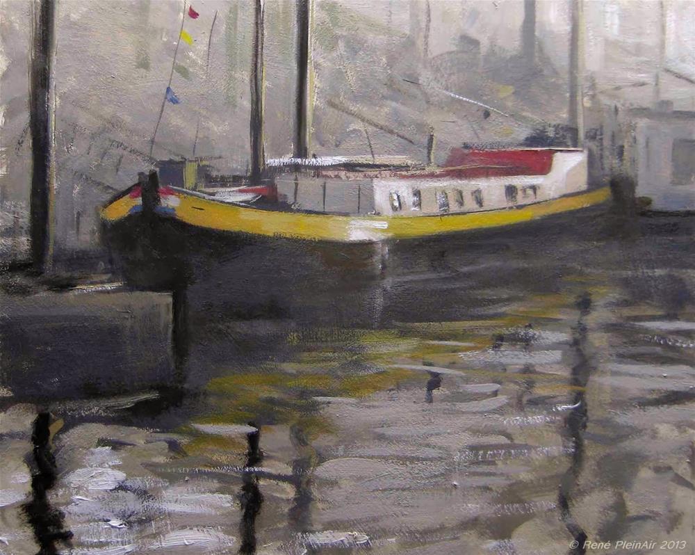 """""""De Johanna. Nijmegen, Holland."""" original fine art by René PleinAir"""