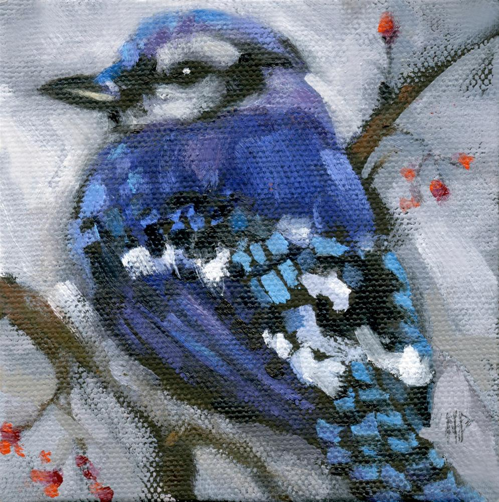 """Little bird, come sit upon my window sill"" original fine art by Nancy Parsons"