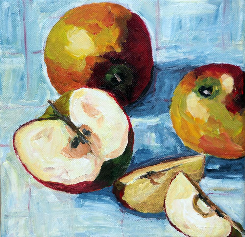 """Apples"" original fine art by Eva Grünwald"