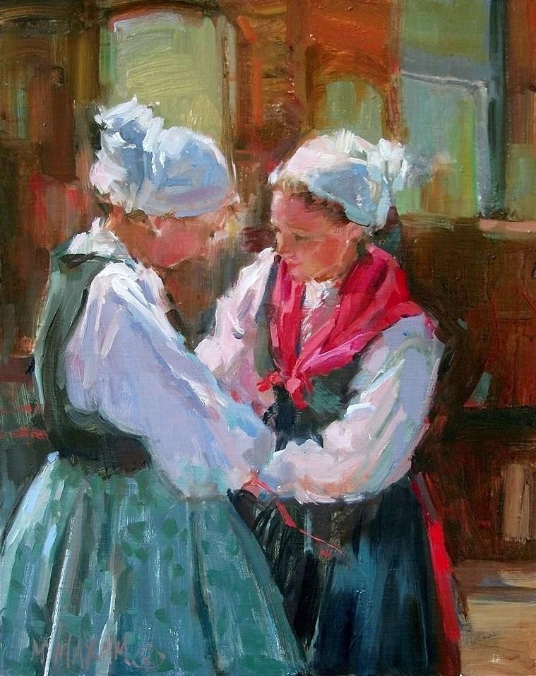 """Finishing Touch"" original fine art by Mary Maxam"