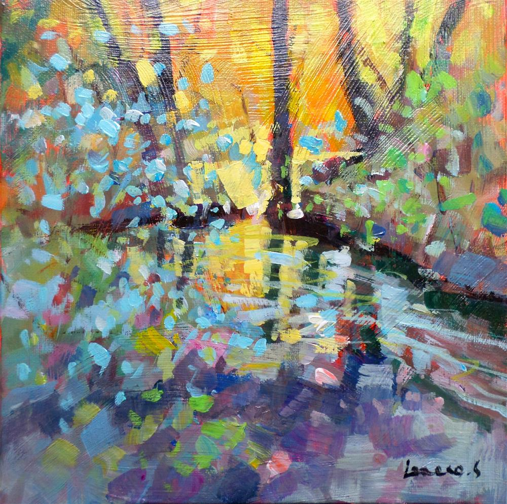 """Watercourse 2"" original fine art by salvatore greco"