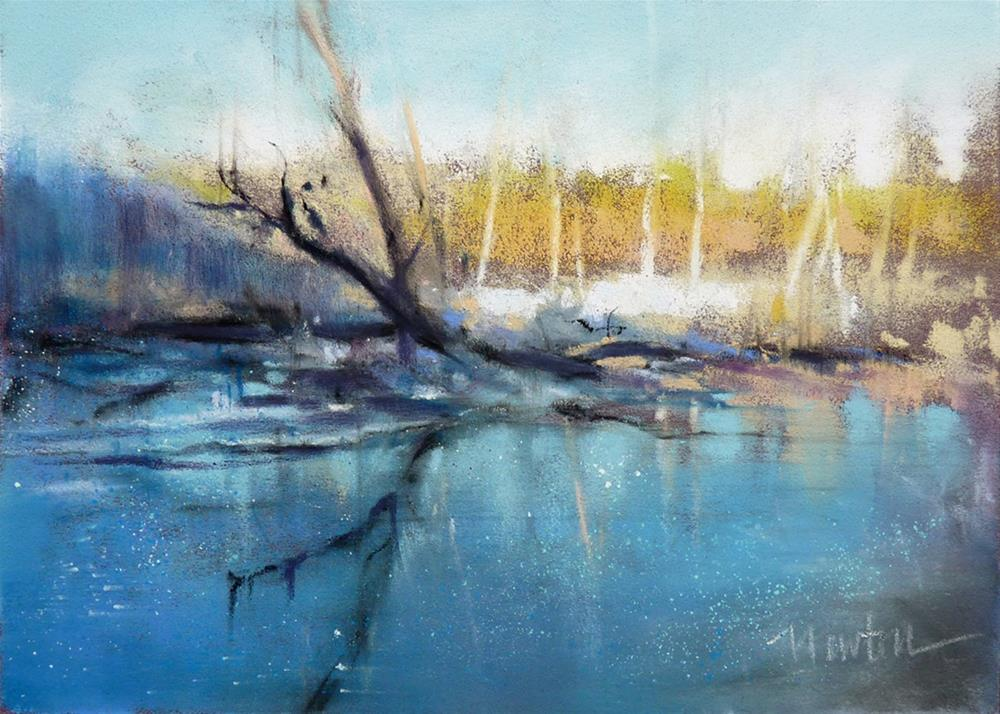 """Rock Creek Winter #2"" original fine art by Barbara Benedetti Newton"