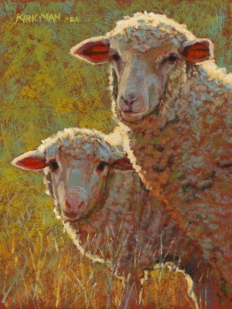 """Fleecia and Little Wooley"" original fine art by Rita Kirkman"