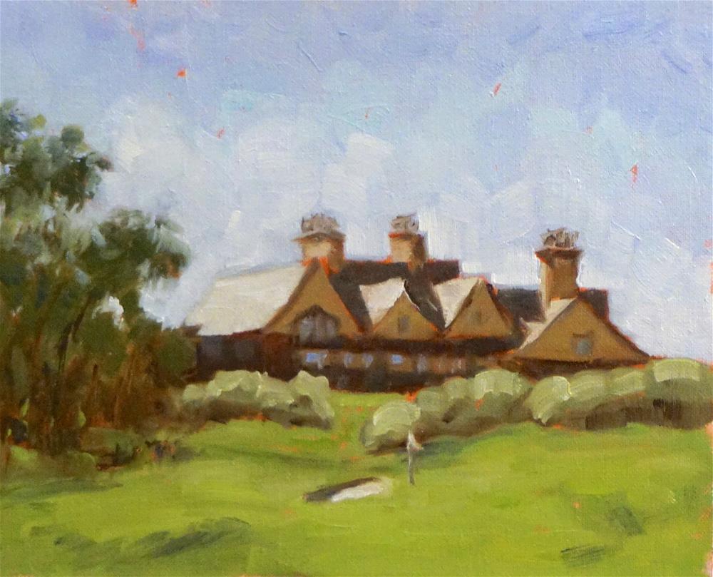 """""""Cassique Club House"""" original fine art by Judy Elias"""