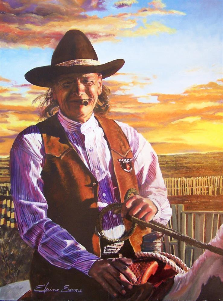 """Sonny Jim"" original fine art by Elaine Evans"