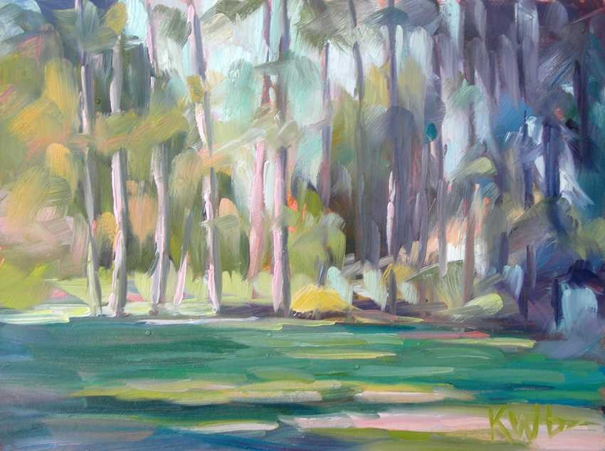 """Row of Pine"" original fine art by Katie Wilson"