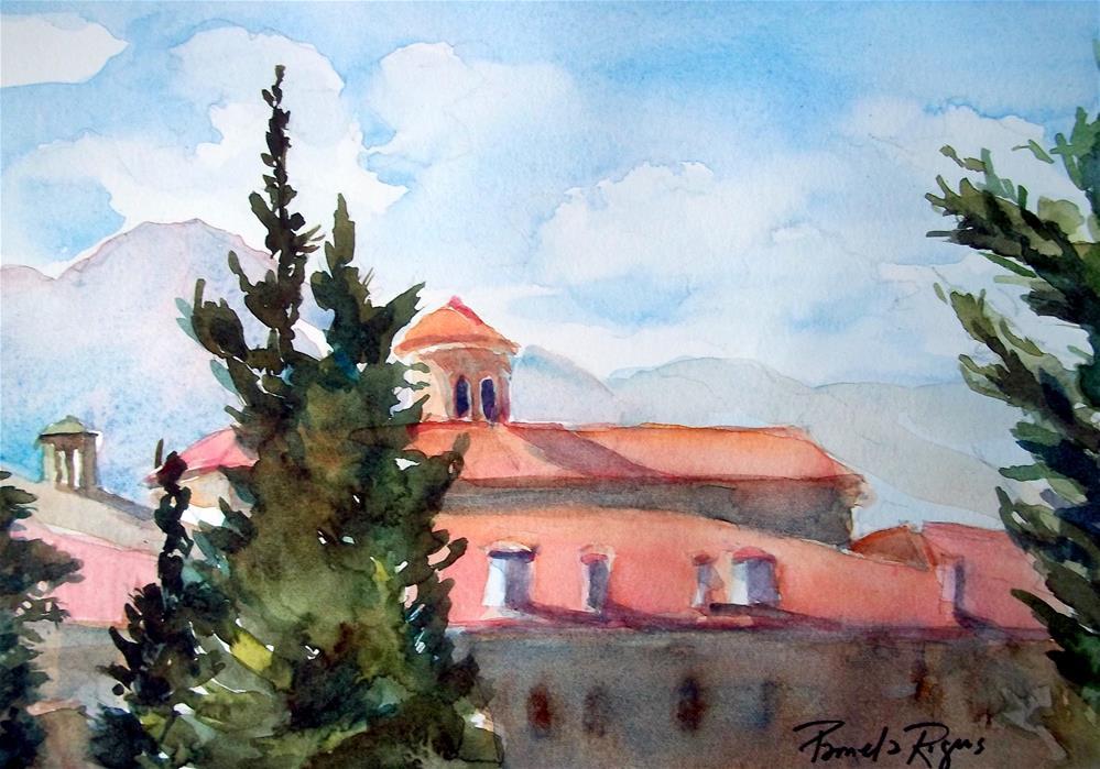 """""""Meteora View, Greece"""" original fine art by Pamela Jane Rogers"""