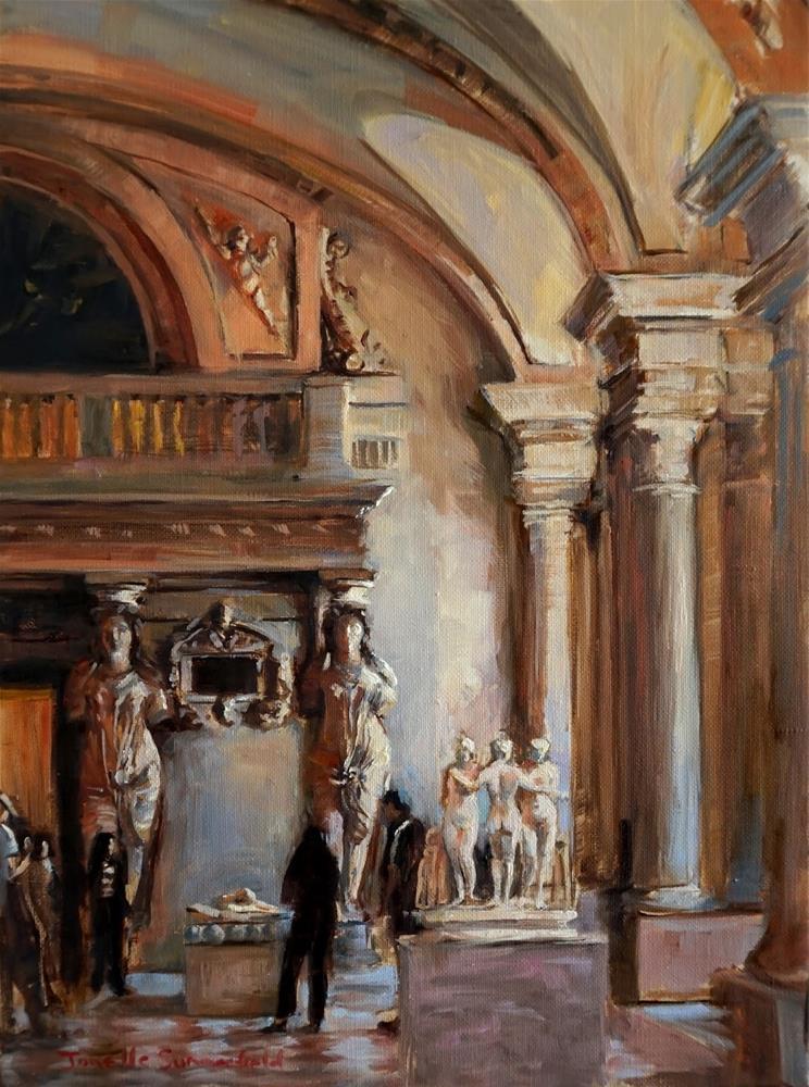 """""""Statues at the Louvre II"""" original fine art by Jonelle Summerfield"""