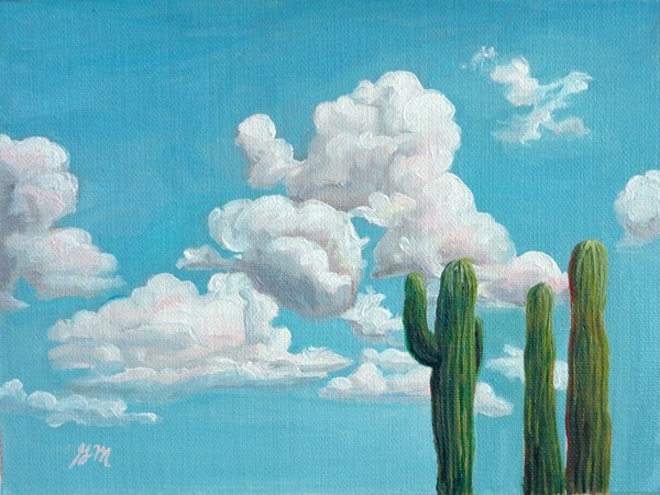 """Reach for the sky"" original fine art by Gretchen Matta"