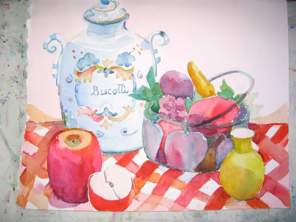 """biscotti"" original fine art by meribeth coyne"