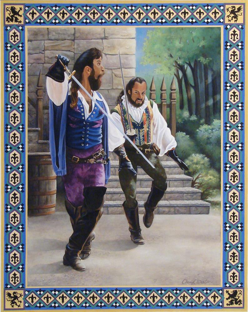 """Swordsmen"" original fine art by Cheryl Plautz"