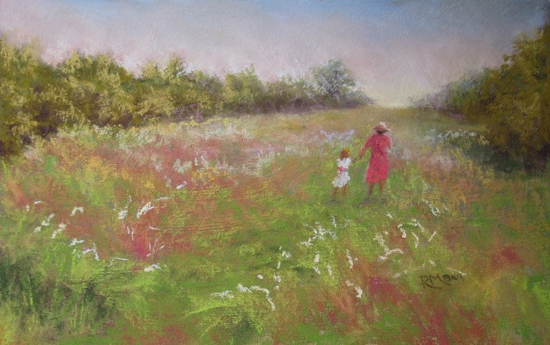 """Meadow Walk"" original fine art by Ruth Mann"