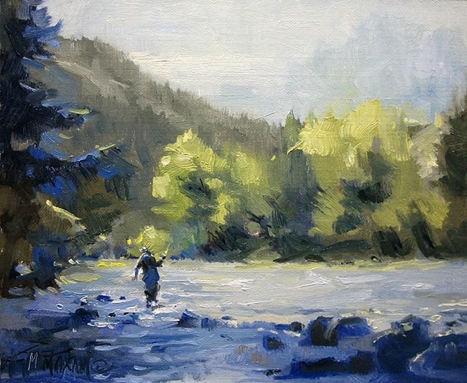 """Light & Shadow"" original fine art by Mary Maxam"