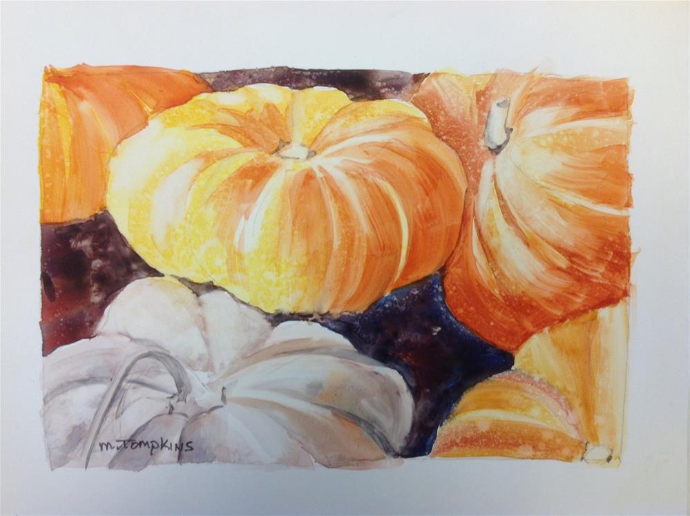 """Pumpkins & Pumkins"" original fine art by Mark Tompkins"