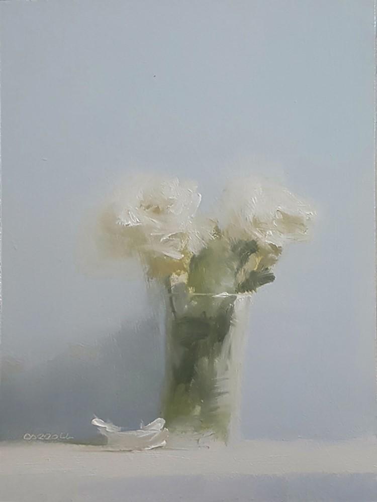 """Two Roses"" original fine art by Neil Carroll"