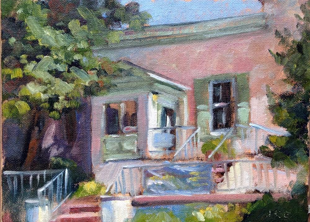 """Media-Upper Providence Free Library I"" original fine art by Jeanne Bruneau"