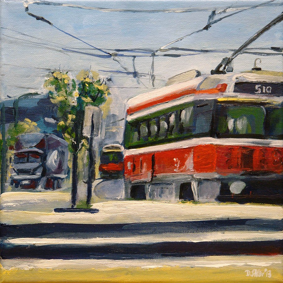"""0576 Line 510"" original fine art by Dietmar Stiller"