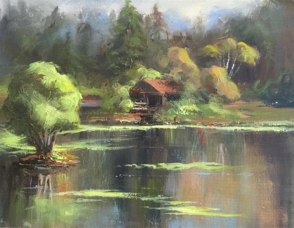 """The Boat Cabin at Morris Graves Foundation"" original fine art by Sharon Abbott-Furze"