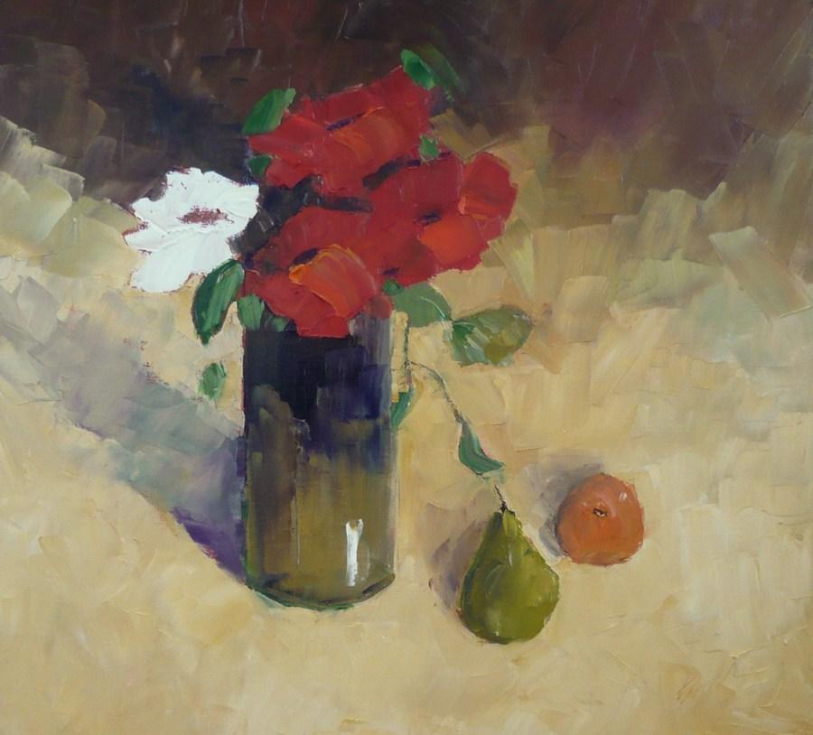 """Autumn Roses"" original fine art by Pamela Munger"