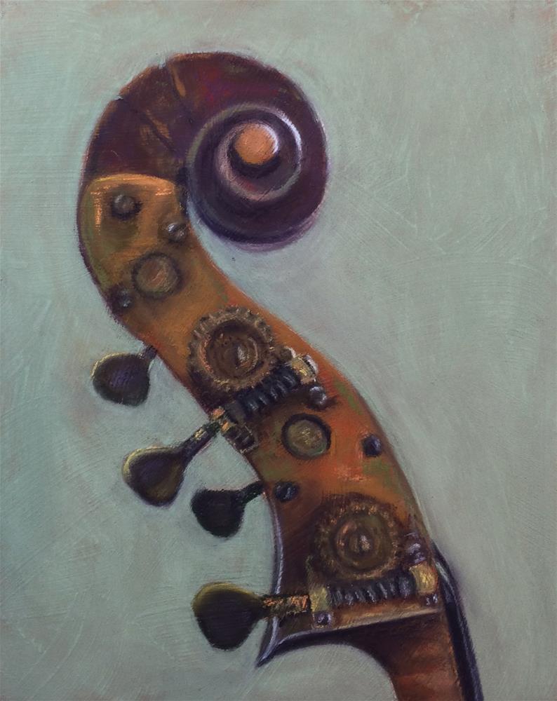 """Antonio Mariani Bass"" original fine art by Cristine Kossow"