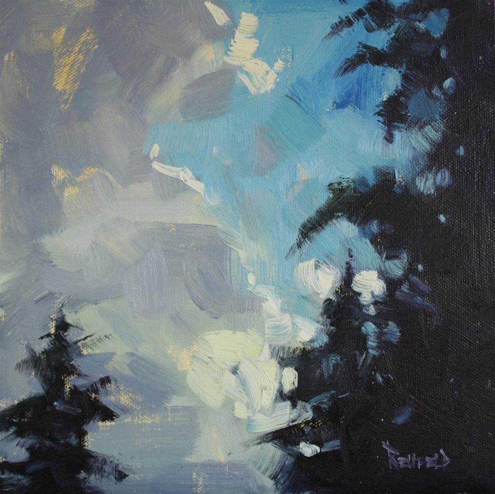 """Coastal Clouds Three"" original fine art by Cathleen Rehfeld"