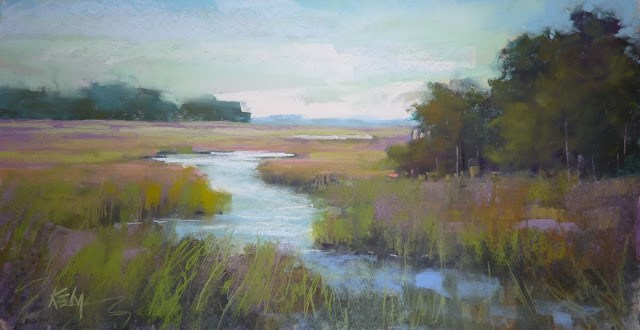"""How to Paint Believable Grasses"" original fine art by Karen Margulis"
