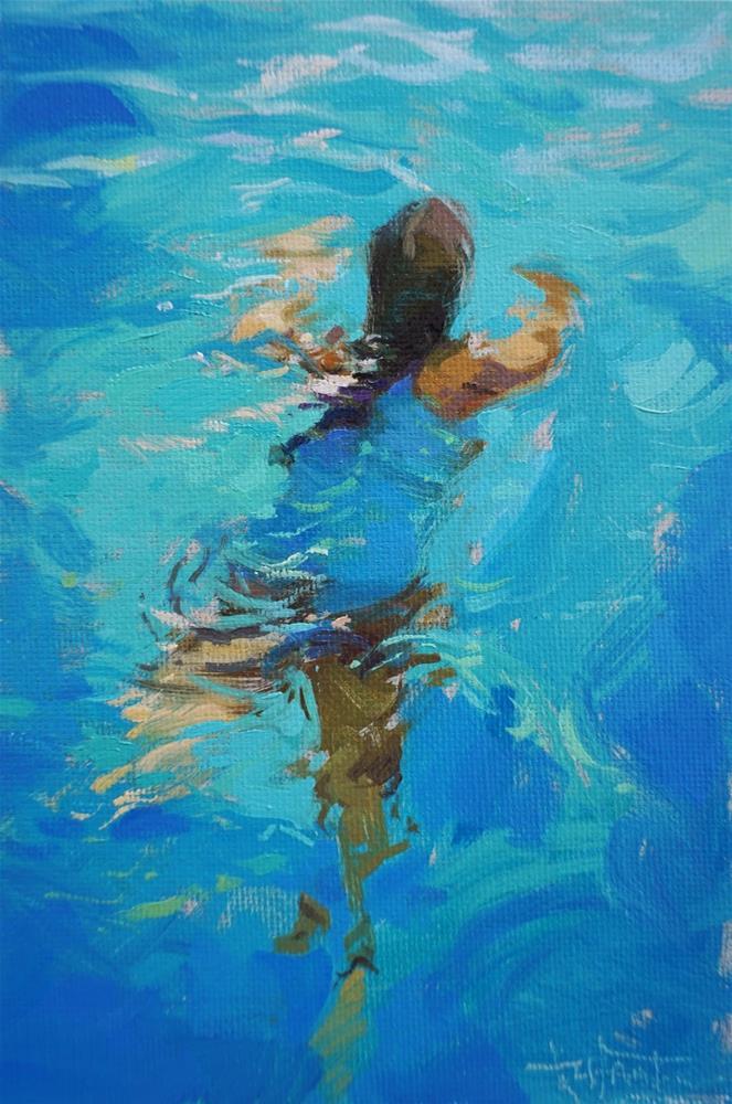 """""""Candela in the pool"""" original fine art by Víctor Tristante"""
