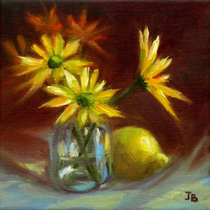 """""""Yellow and Blue"""" original fine art by Irina Beskina"""