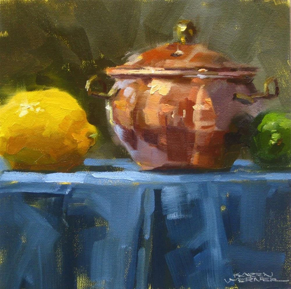 """Copper Pot"" original fine art by Karen Werner"