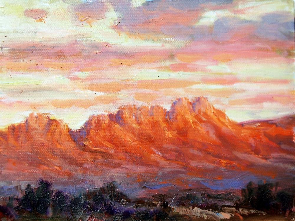 """""""Brilliant Sunset"""" original fine art by Julie Ford Oliver"""