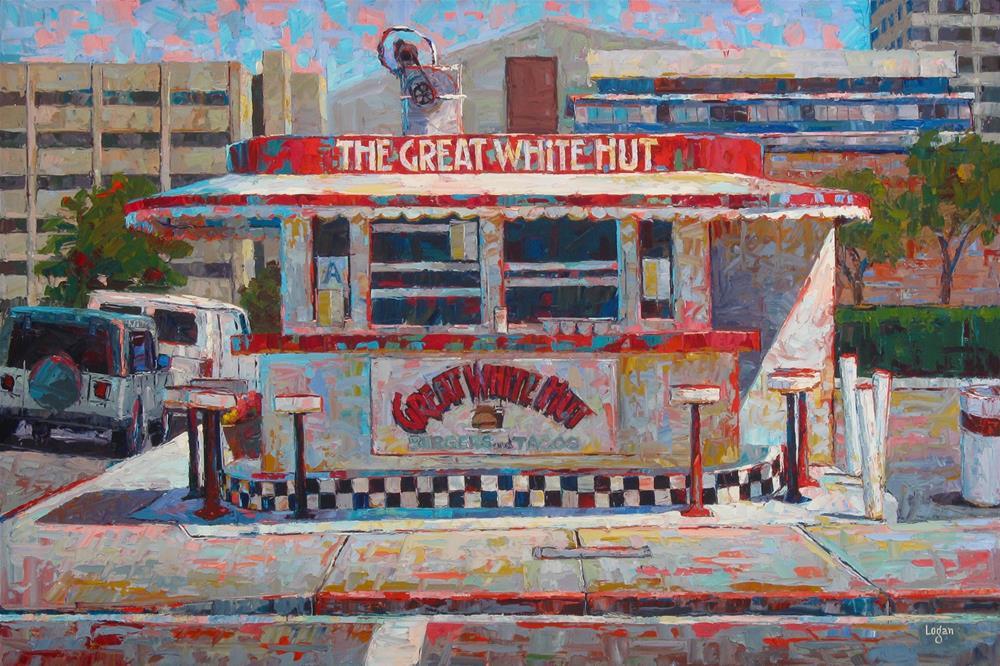 """The Great White Hut"" original fine art by Raymond Logan"