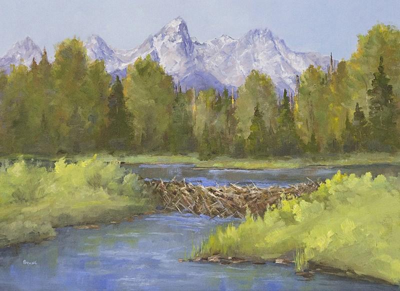 """Those Dam Beavers"" original fine art by Bonnie Bowne"