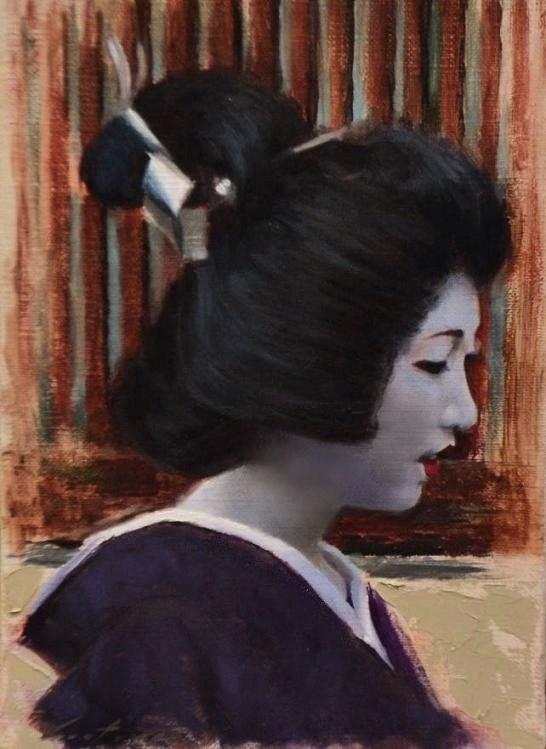 """Sayaka"" original fine art by Phil Couture"