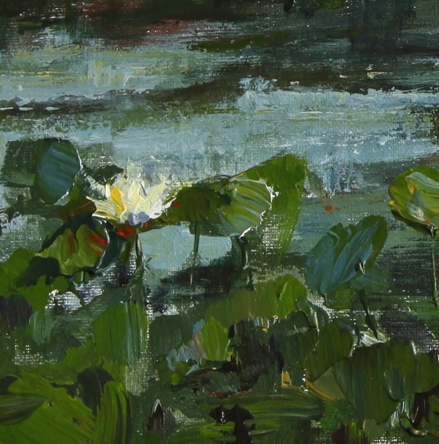 """Among the Lily Pads"" original fine art by Chantel Barber"
