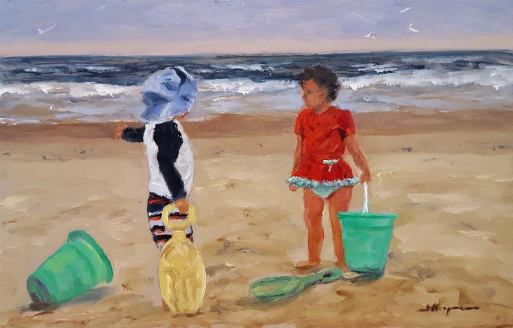 """Summer Romance"" original fine art by Shelley Koopmann"